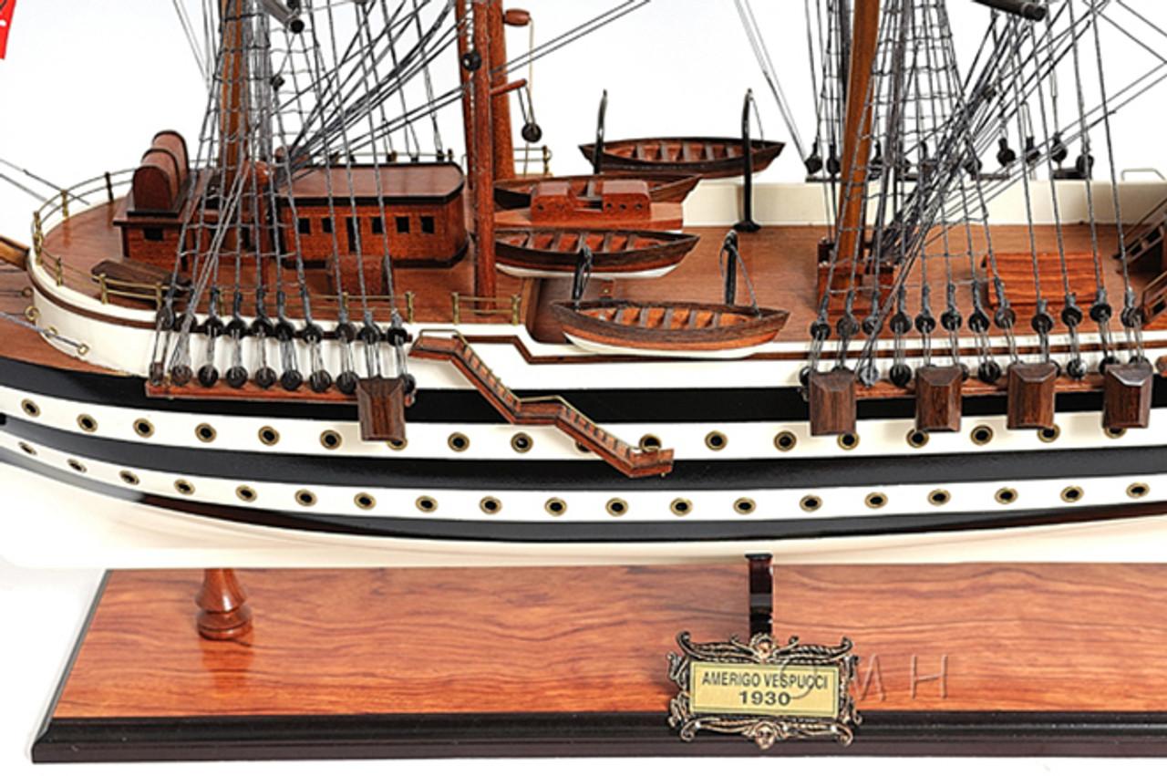Amerigo Vespucci Wooden Model Italian Tall Training Ship
