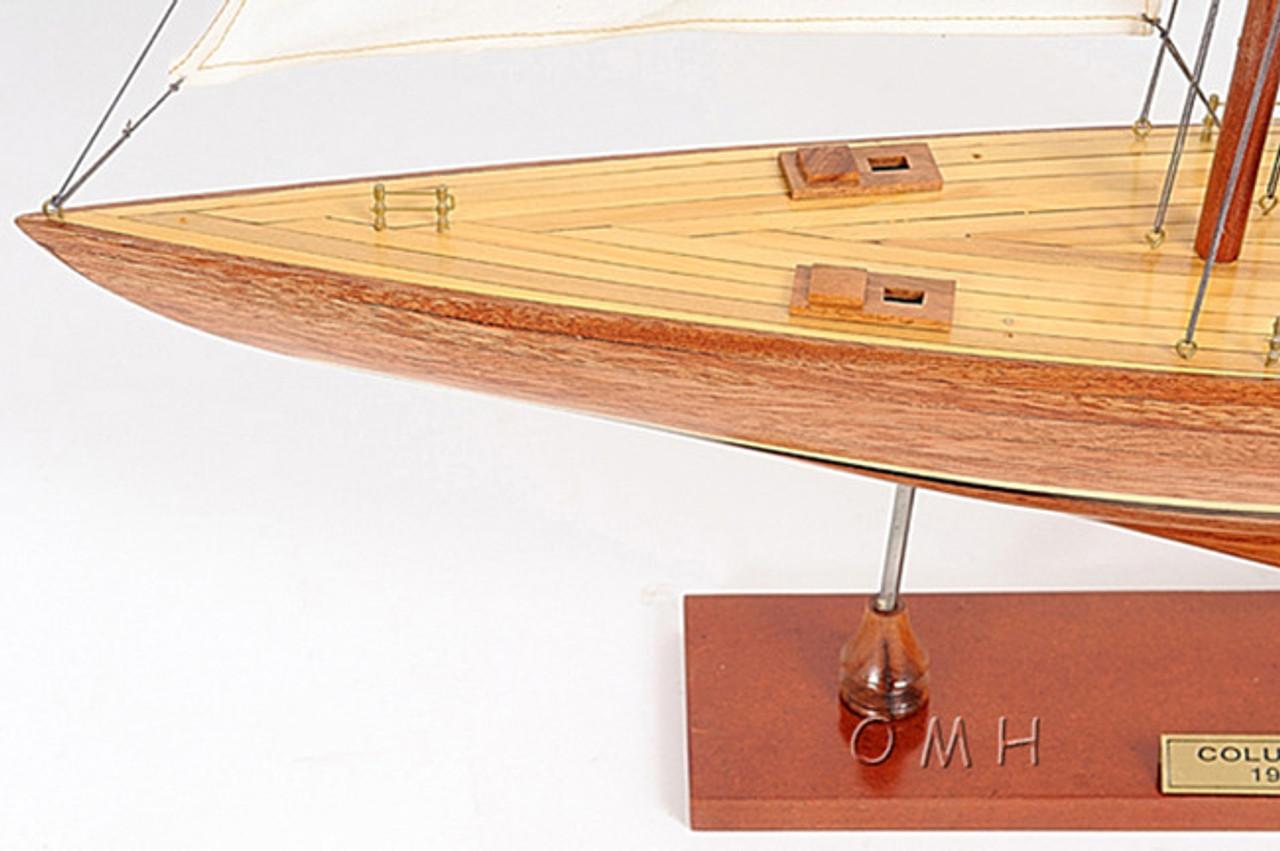 Columbia America's Cup  Wood Model Sailboat