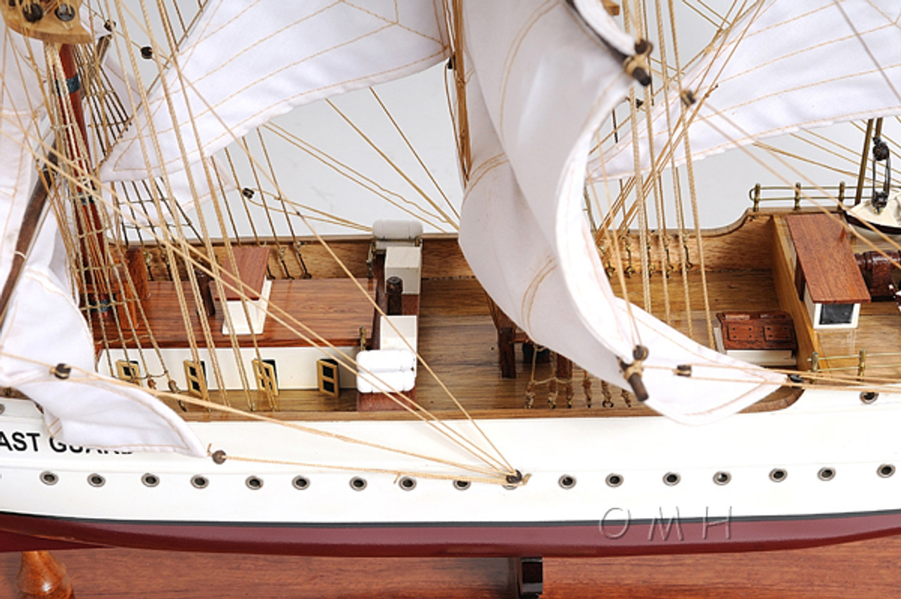 USCG Eagle Training Tall Ship Wooden Model