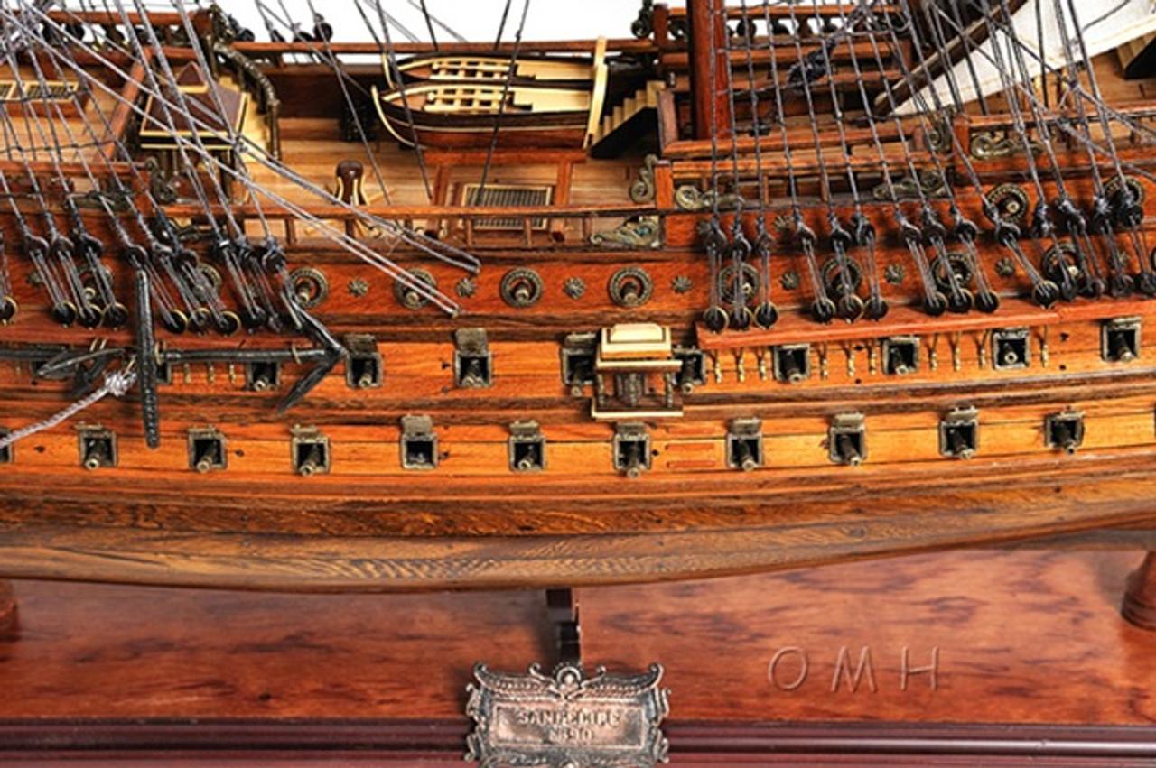 San Felipe Wooden Tall Ship Model Spanish Galleon