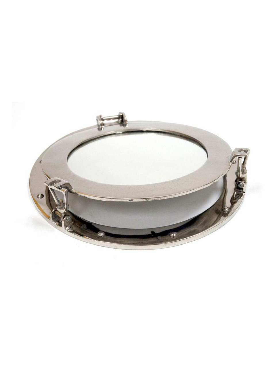Aluminum Chrome Finish Ships Cabin Porthole Mirror