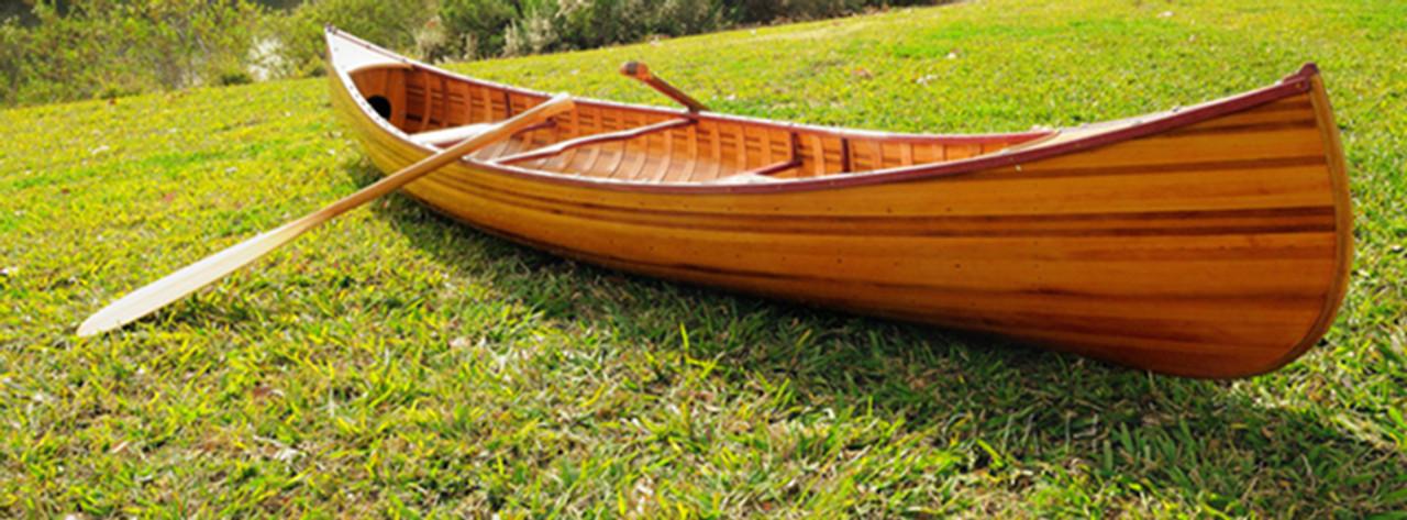 Cedar Strip Built Canoe Wooden Boat