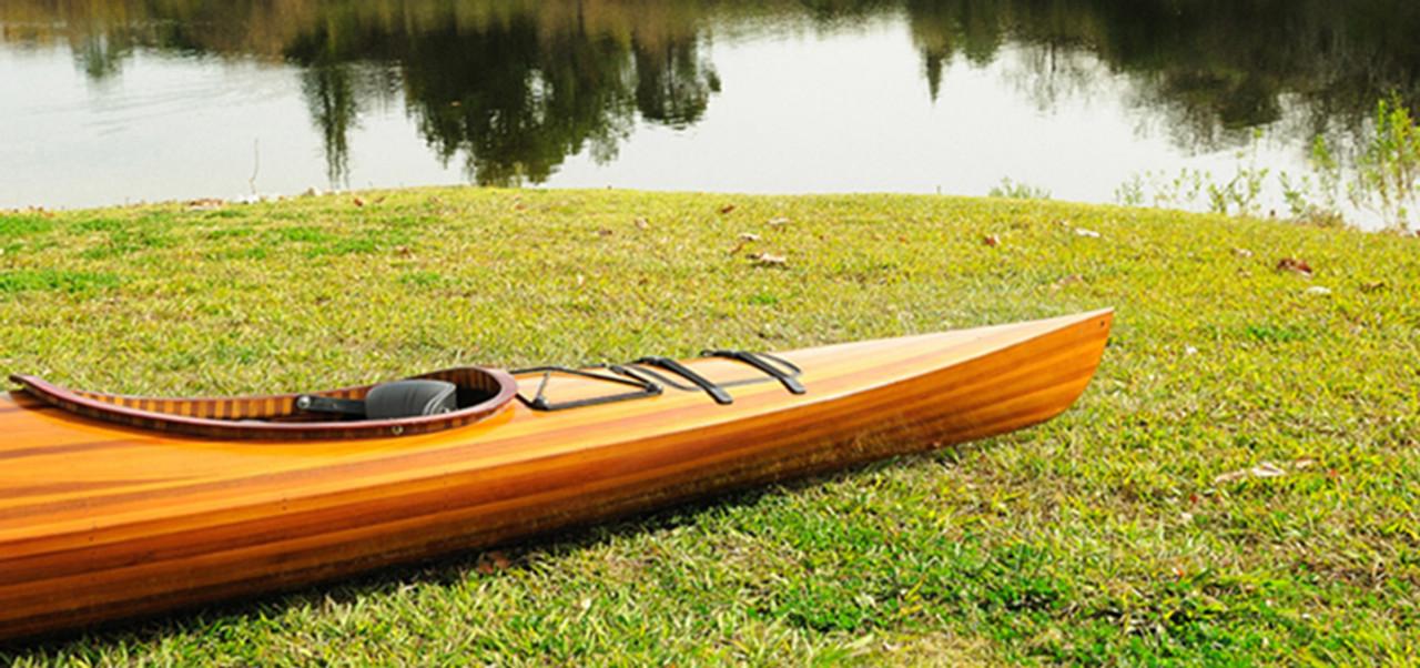 Cedar Wood Strip Built Kayak Boat Woodenboat USA
