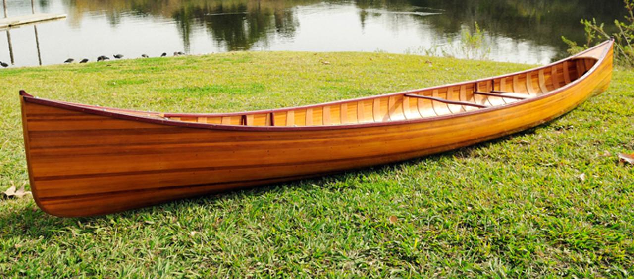 Cedar Wood Strip Built Canoe Wooden Ribs