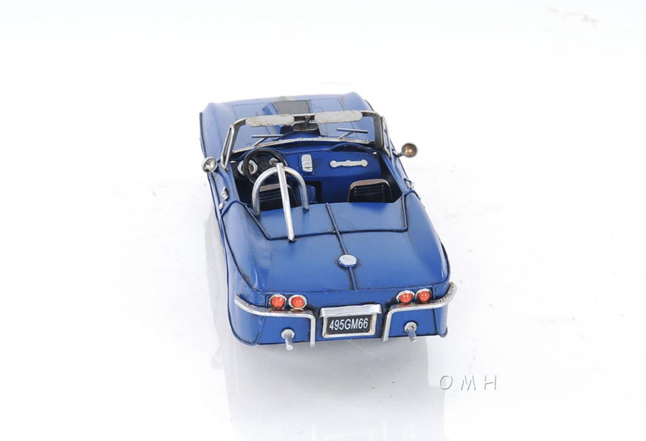 "1960s Chevrolet Corvette Stingray Metal Car Model 18/"" Automobile Decor New"