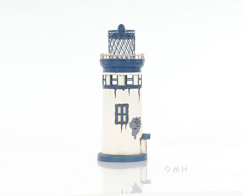 Lighthouse Iron Metal Model Nautical Maritime Decor