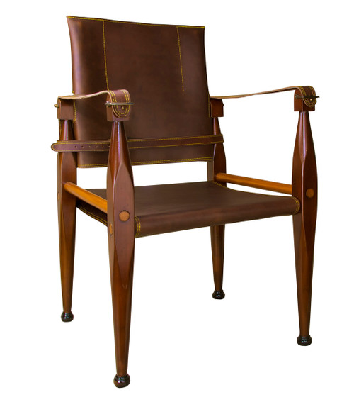 Bridle Leather Campaign Chair British Officers Camp Furniture
