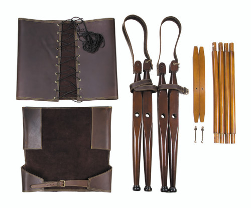 """Bridle Leather Campaign Chair 35"""" British Officer's Camp Furniture"""
