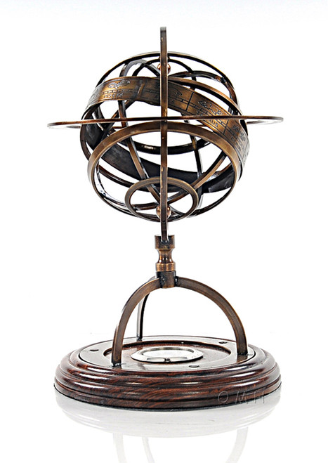 Brass Armillary Sphere Compass Globe Table Top