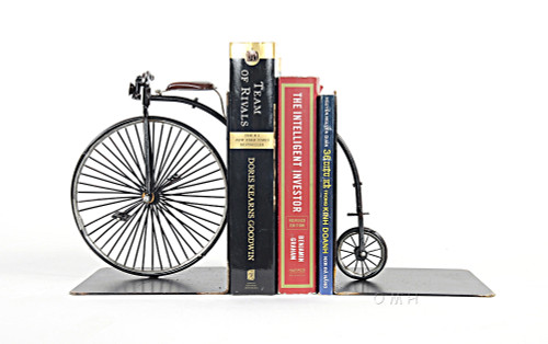 High Wheeler Penny Farthing Bicycle Metal Bookend