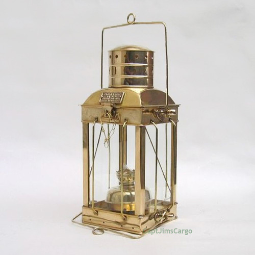 Brass Ships Cargo Hold Oil Lamp Hanging Lantern