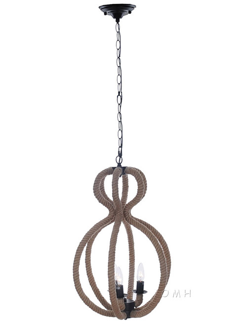Nautical Rope Pendant Hanging Lamp Ceiling Light