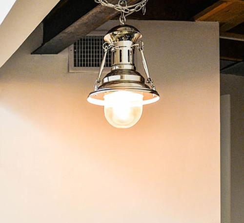 Nautical Chrome Metal Pendant Hanging Lamp Turnbuckle Light