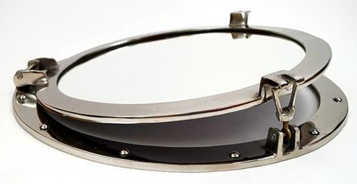 Porthole Mirror Aluminum Chrome Round Nautical Decor