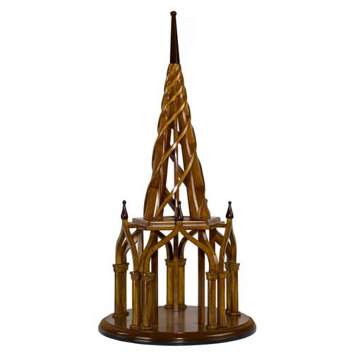 Nirvana Spire Architectural Wooden Model Spiral Belltower