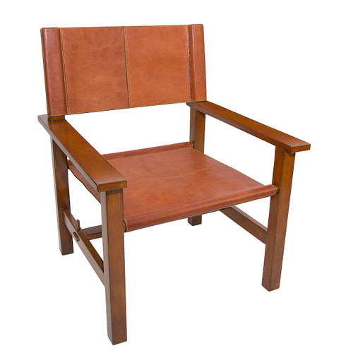 Bridle Leather Cartagena Chair Campaign Camp Furniture