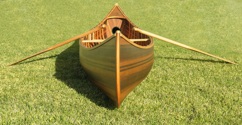 Cedar Strip Built Canoe Matte Finish Woodenboat USA