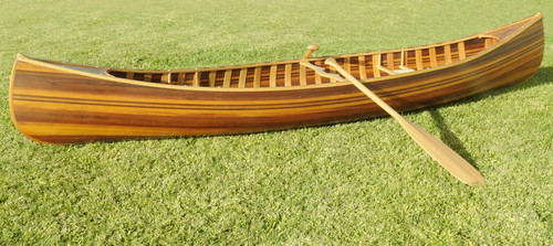Cedar Strip Built Canoe Boat Matte Finish