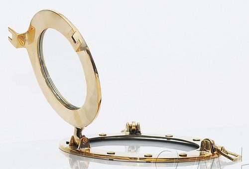 Ships Porthole Mirror Solid Brass Round Nautical Decor