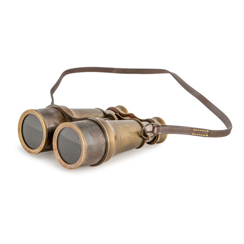 Brass Victorian Binoculars Antiqued Bronze Finish Nautical Decor