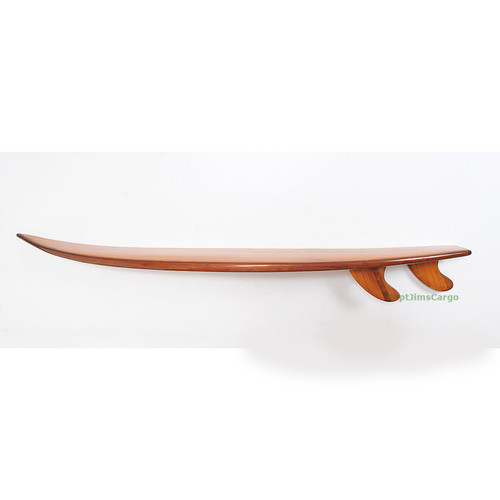 Half Surfboard Shelf Cedar Wood Epoxy Wall Art