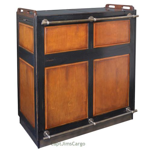 "Valet de Chambre Rolling Cabinet Desk 48/"" Nautical Storage Furniture"
