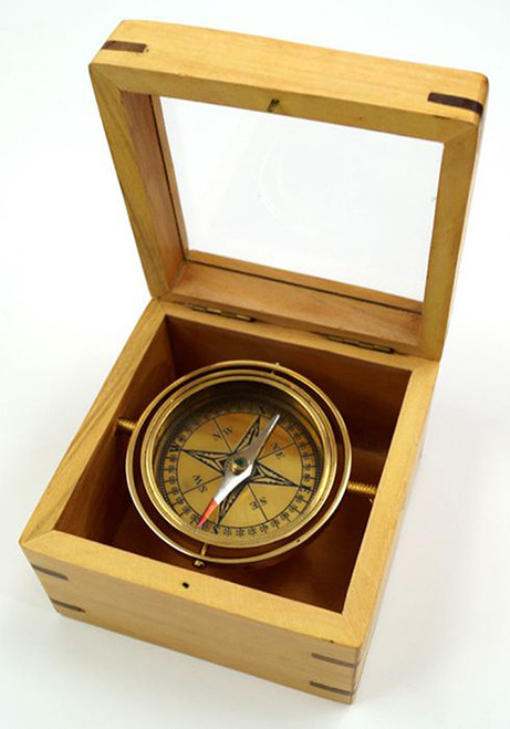 Decorative Brass Lifeboat Gimbal Compass Nautical Gift