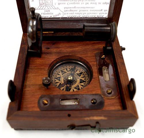 Marine Master Box Compass Telescope Clinometer Alidade