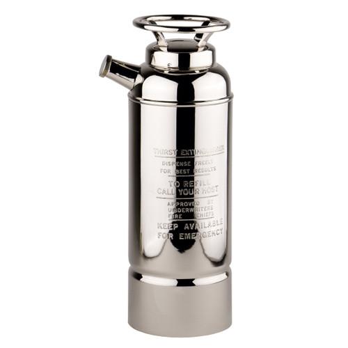 Fire Extinguisher Cocktail Shaker Nickel Brass Barware
