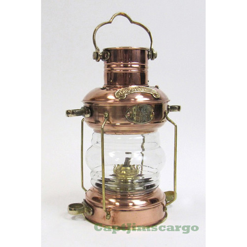 Ships Anchor Lantern Oil Lamp Copper Brass Nautical Decor