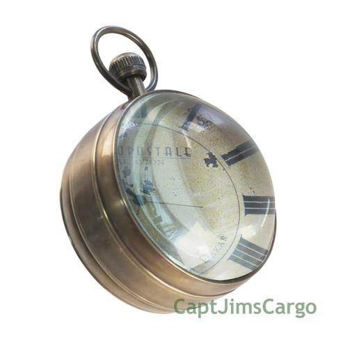 Aeronautical Travel Desk Clock Bronze Aviation Decor
