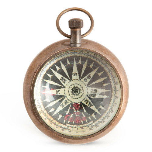 Titanic White Star Porthole Pocket Desk Clock Bronze
