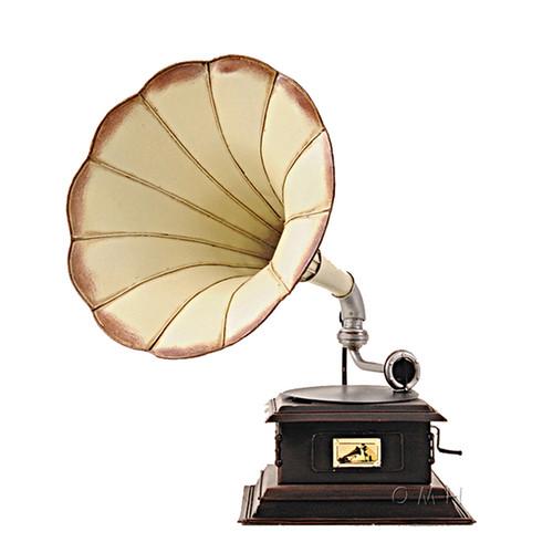 Gramophone Monarch Company Metal Model Decorative Phonograph
