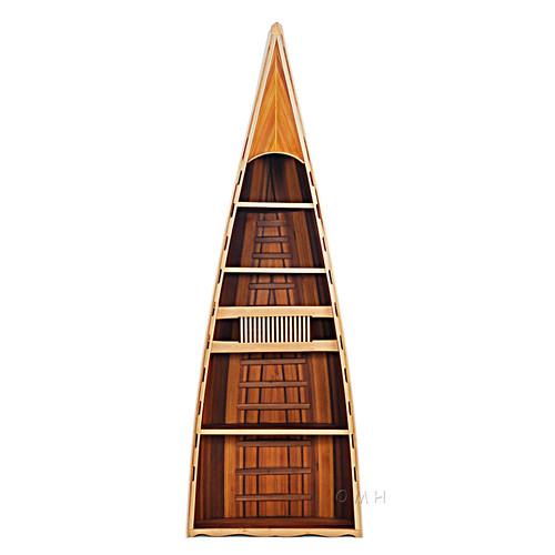 Canoe Book Shelf Cedar Wood Strip Built