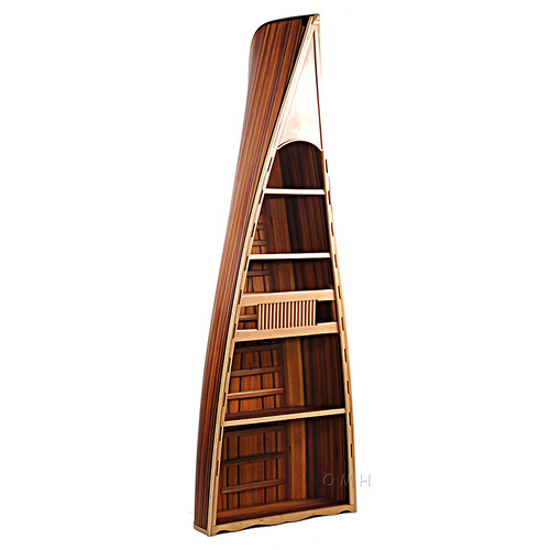 Canoe Bookcase Book Shelf Cedar Wood Strip