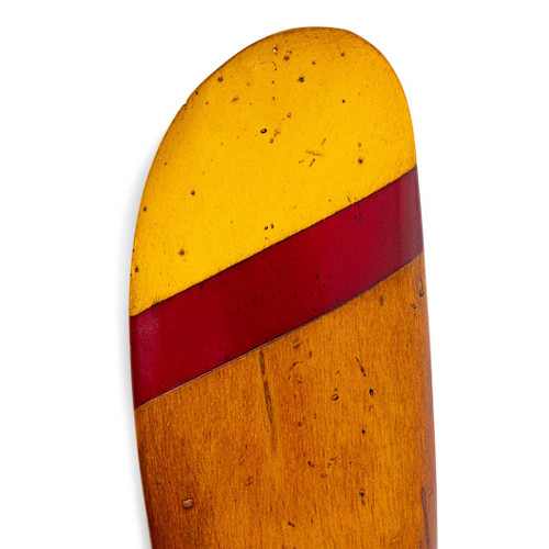 Small Wooden Propeller Gold Red Tipped Honey Finish