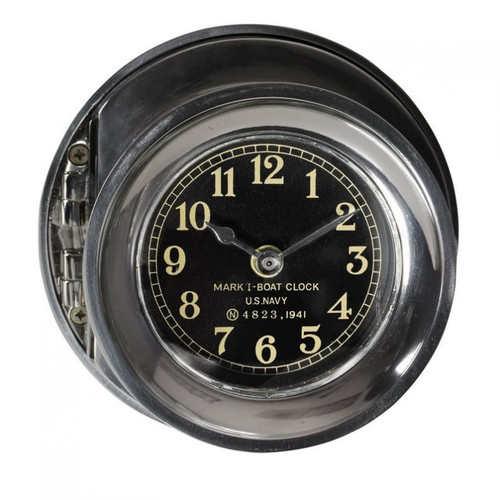 US Navy WWII Mark I Ship Deck Clock