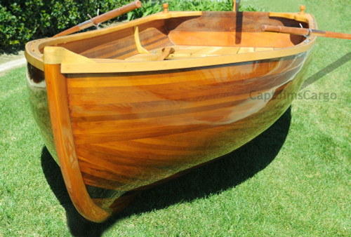 Cedar Rowboat Dingy Wood Strip Built Gloss Tender
