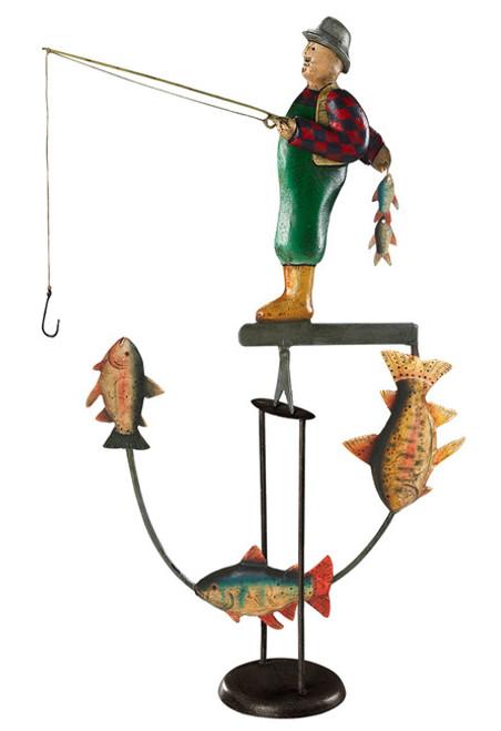 Fly Fisherman Sky Hook Tetter Totter Toy