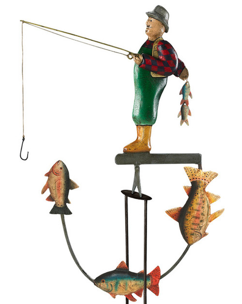 Fly Fisherman Fish Tetter Totter Balance Toy