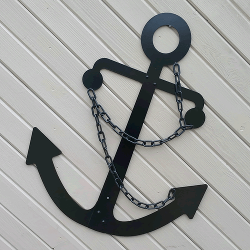 Admiralty Fisherman Metal Anchor Wall Hanging Decor