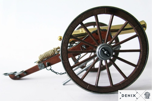 Civil War Cannon Gold Plated Model Field Artillery