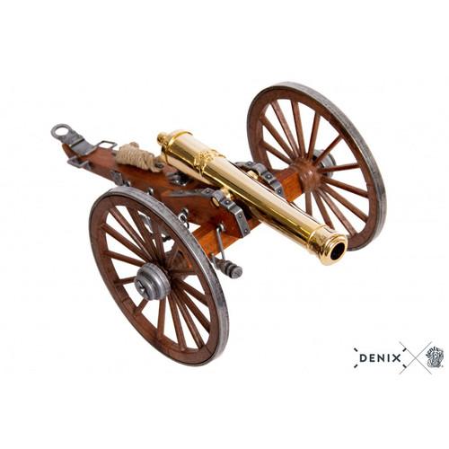 "Civil War Cannon 24K Gold Plated Metal Model 9.8"" Field Artillery"