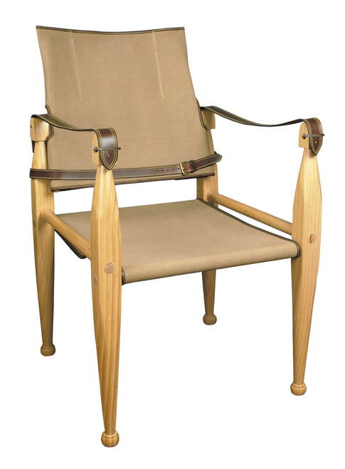 Canvas Leather Campaign Chair British Officers Camp Furniture