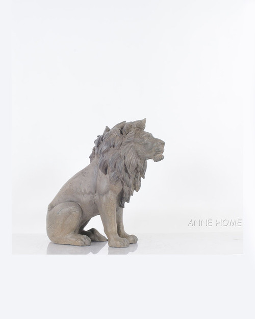 Lion Figurine Statue African Safari Home Decor