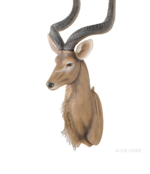 Kudu Antelope Head Wall Mount Africa Safari Decor