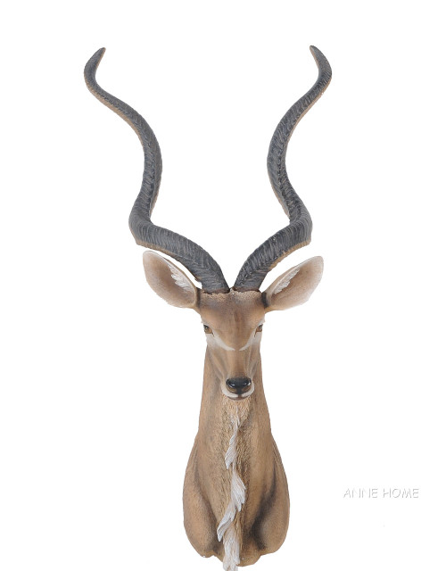 Kudu Antelope Head Wall Mount Faux Africa Safari