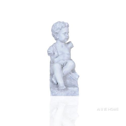 Boy Sitting Garden Statue Sculpture Figurine Ancient Greek Roman