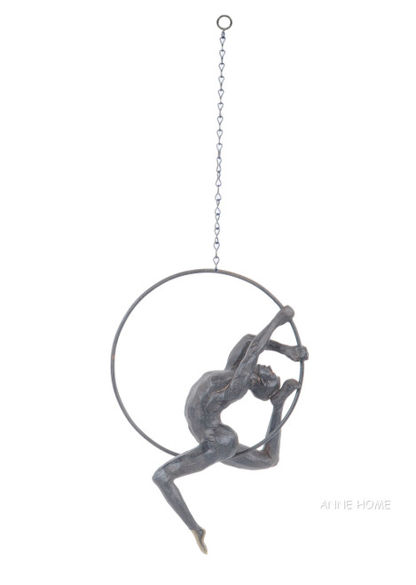 Nude Male Athlete Figure Sculpture Figurine Gymnast