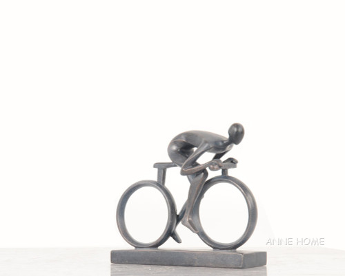 Male Cyclist Figure Cycling Bicycle Art Bike Decor